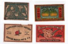 Collectible  OLD match box labels CHINA or JAPAN patriotic #207